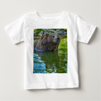 Brown bear in water baby T-Shirt