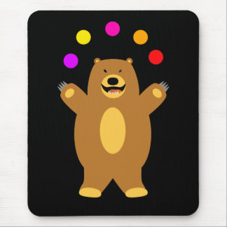 Brown Bear Juggling Mouse Pad