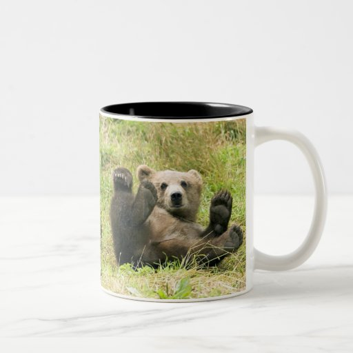 Brown_Bear_Kodiak_Bears Lovers Two-Tone Coffee Mug