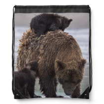 Brown Bear | Lake Clark National Park Drawstring Bag
