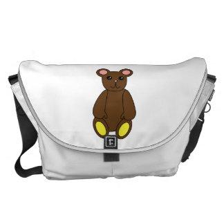 Brown Bear Large Messenger Bag