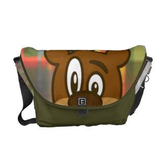 Brown Bear Messenger Bag