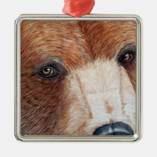 Brown Bear Metal Ornament