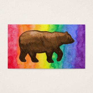 Brown Bear on Rainbow Wash Business Card