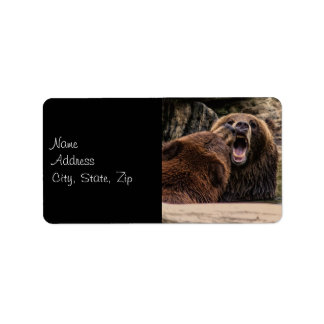 Brown Bear Photo Label
