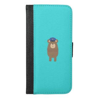 Brown bear Police Q1Q iPhone 6/6s Plus Wallet Case