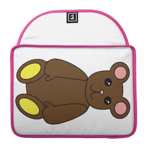 Brown Bear Rickshaw Flap Sleeve Sleeves For MacBooks