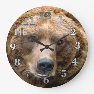 Brown Bear Round Wall Clock