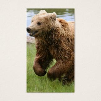 Brown Bear Running Business Card