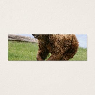 Brown Bear Running Mini Business Card