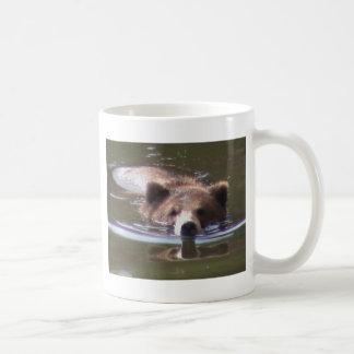 Brown Bear swimming Coffee Mug