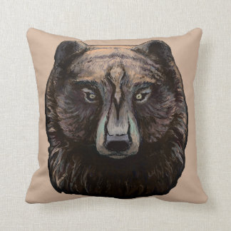 'Brown Bear' Throw Pillow