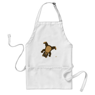 Brown Bear Turning Right Adult Apron