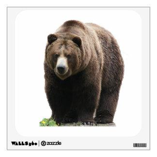 Brown bear wall sticker