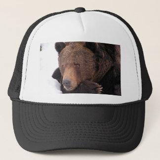 Brown Bear Winter Trucker Hat
