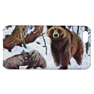 Brown Bear with Cubs Art iPhone 5C Covers