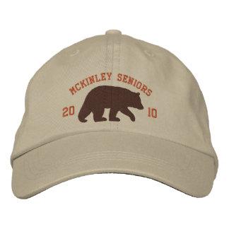 Brown Bear with Customizable Text Cap