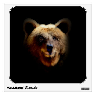 Brown Bear With Mysterious Smile Wall Sticker