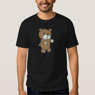 Brown Bear With White Mouth & Paws T Shirt