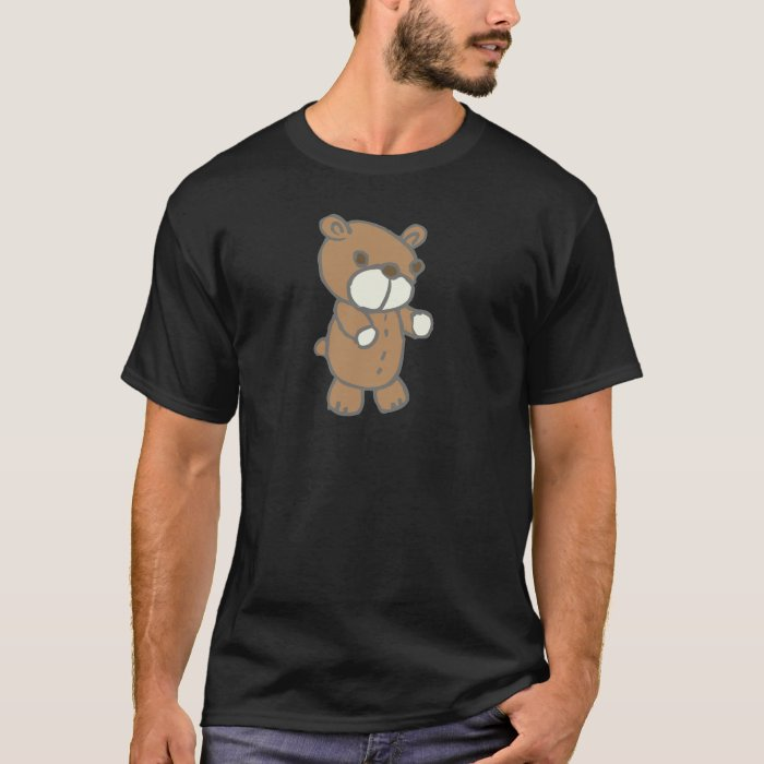 Brown Bear With White Mouth & Paws T-Shirt
