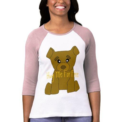 Brown bear women 3 4 sleeve t shirt template zazzle for 3 4 sleeve shirt template