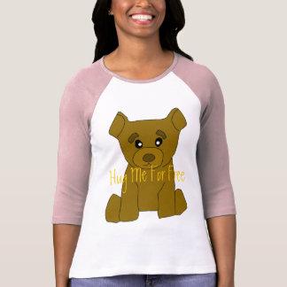 Brown Bear Women 3/4 Sleeve T-Shirt Template