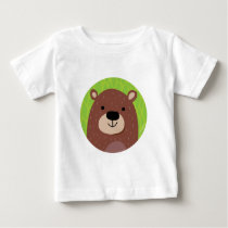 Brown Bear - Woodland Friends Baby T-Shirt