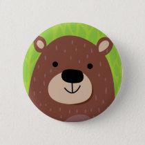 Brown Bear - Woodland Friends Button