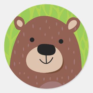 Brown Bear - Woodland Friends Classic Round Sticker