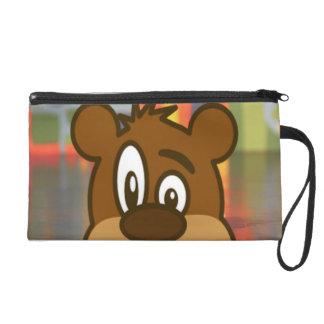 Brown Bear Wristlet