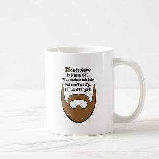 brown beard coffee mug