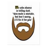brown beard post card