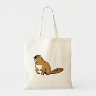 Brown Beaver Canvas Bag