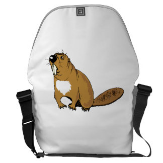 Brown Beaver Messenger Bag