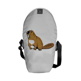 Brown Beaver Messenger Bags
