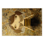 """Brown Bee Girl"" 19 x 13 inch Poster!"