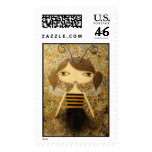 """Brown Bee Girl"" 46 Cent Denomination Stamps!"