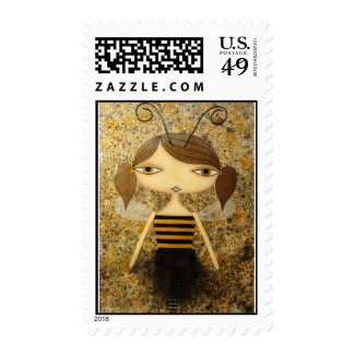 """Brown Bee Girl"" 49 Cent Denomination Stamps! Postage"