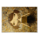"""Brown Bee Girl"" 7 x 5 inch Poster!"