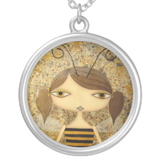 """""""Brown Bee Girl"""" Silver-Plated Necklace! Silver Plated Necklace"""