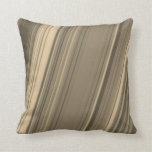 [ Thumbnail: Brown, Beige and Grey Rustic Lines Pillow ]
