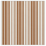 [ Thumbnail: Brown & Beige Colored Lines Fabric ]