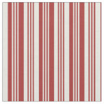 [ Thumbnail: Brown & Beige Lined Pattern Fabric ]