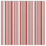 [ Thumbnail: Brown & Beige Lines Pattern Fabric ]