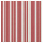 [ Thumbnail: Brown & Beige Stripes Pattern Fabric ]