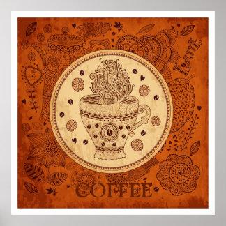 Brown & Beige Vintage Coffee Poster