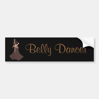 Brown Belly Dancer Bumper Sticker
