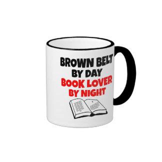 Brown Belt Book Lover Ringer Coffee Mug
