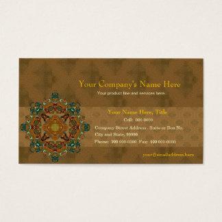 Brown Berber & Mandala Business Card