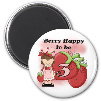 Brown Berry 3rd Birthday T-shirts and Gifts 2 Inch Round Magnet